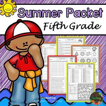 Summer Packet For 5th Going Into 6th Summer Packet This Summer Packet Is For Students To Review Skills In The Summer Packet Summer Math Summer Review Packet