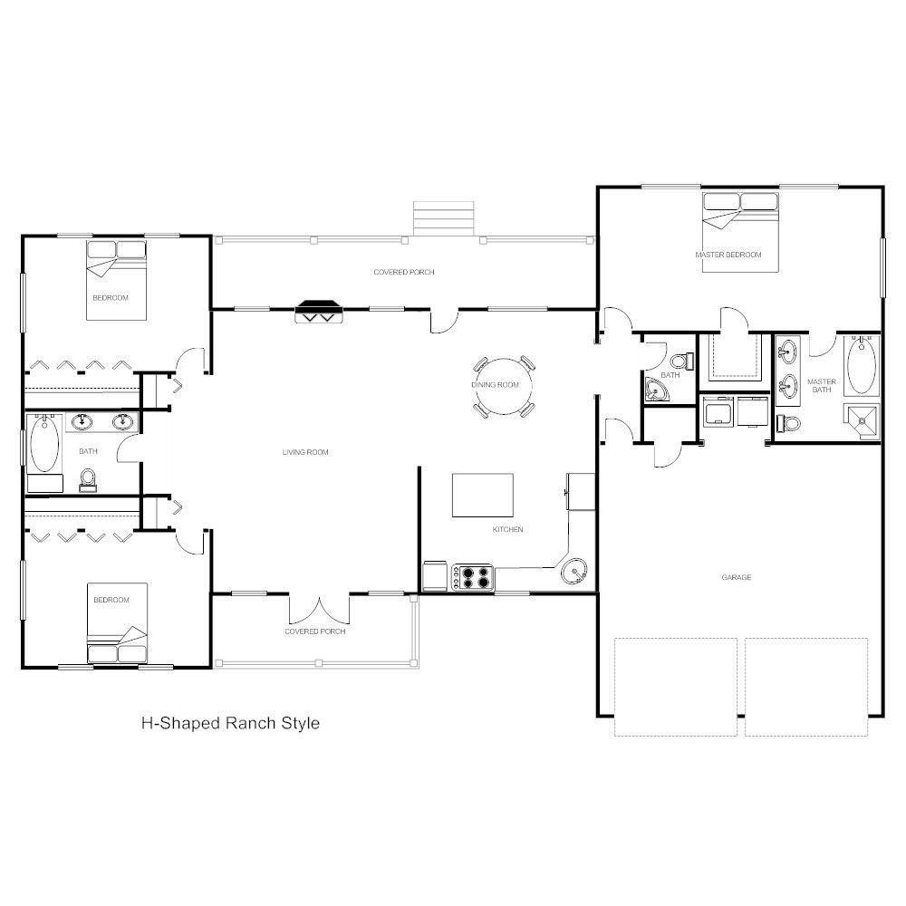 Free Floorplan Template Inspirational Floor Plan Templates Draw Floor Plans Easily With Templates In 2020 Free Floor Plans Floor Plan Design Floor Plans