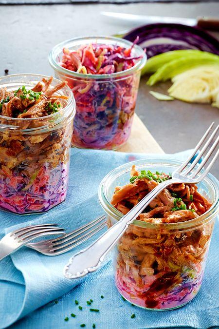 Pulled Pork im Glas | Recipe | Party Food Ideas | Rezepte ...