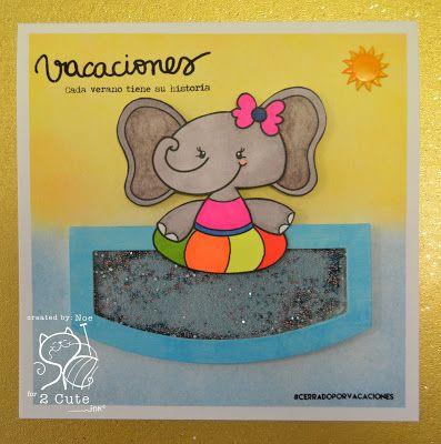 Noelia Ilesias Gonzalez: The Scrap Cris and Noe:  Here comes the Indian summer !! - 5/28/16.  (Pin#1: 2 Cute Ink.  Pin+: Summer Fun; Seaside/...; Animals...).