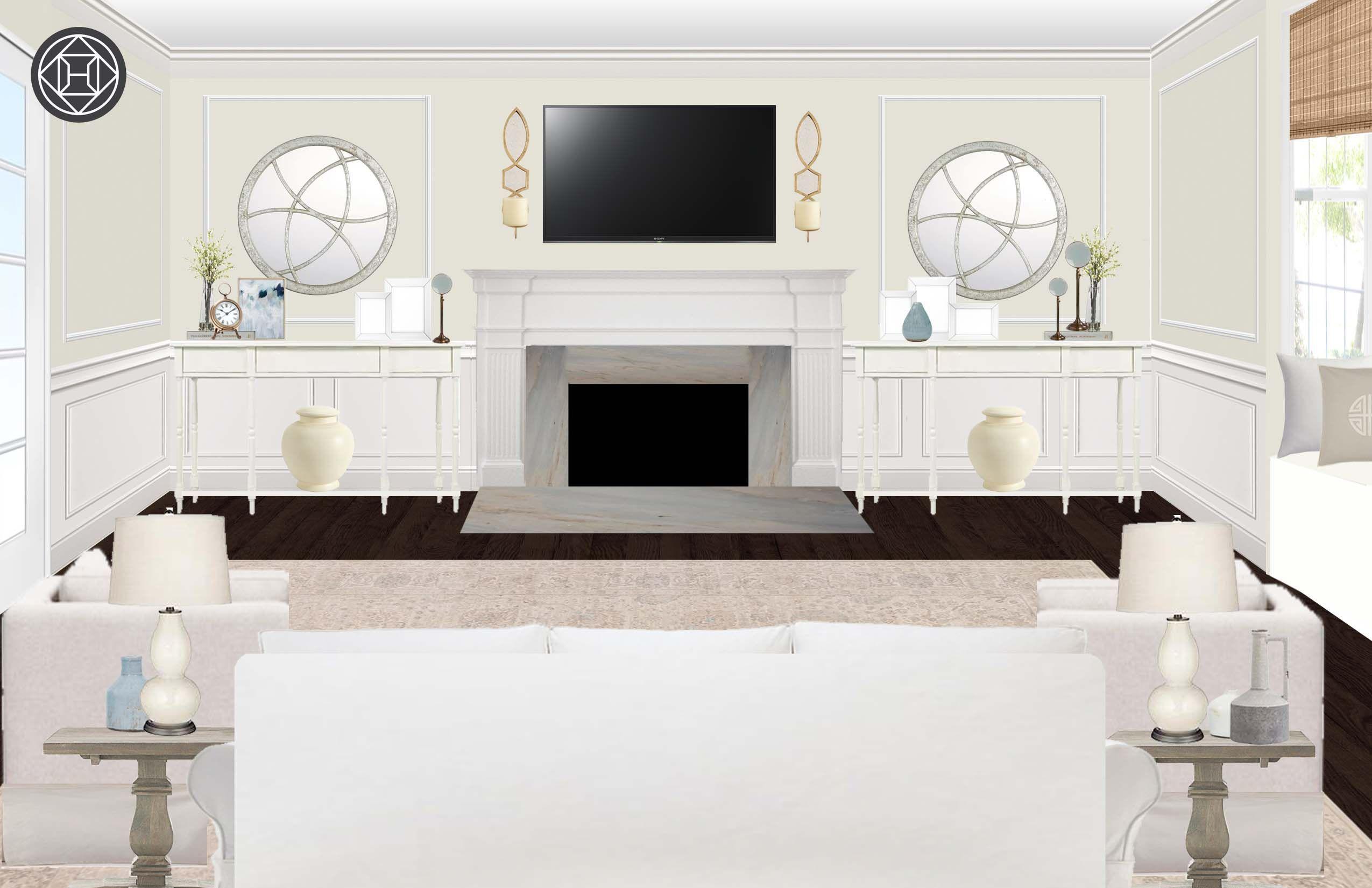 Classic, Transitional Living Room Design by Havenly Interior Designer Lisa #havenlylivingroom Classic, Transitional Living Room by Havenly #havenlylivingroom