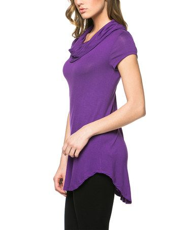 Look what I found on #zulily! Purple Cowl Neck Tunic by Celeste #zulilyfinds