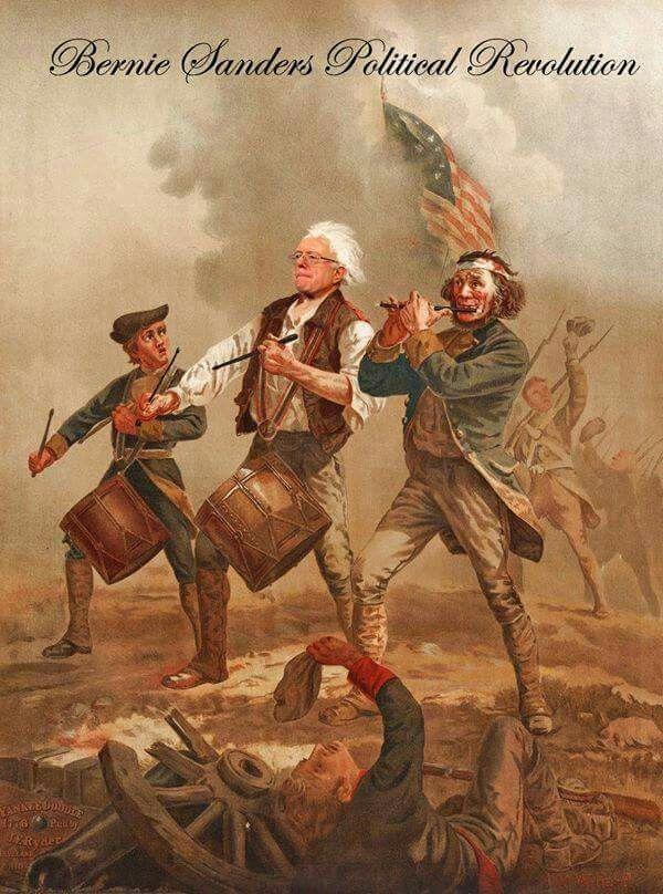 Bernie Sanders Political Revolution Art Memes History Memes American Revolution