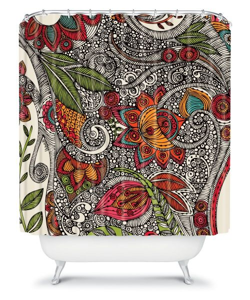DENY Designs Valentina Ramos Flowers Shower Curtain - Shower Curtains at Hayneedle