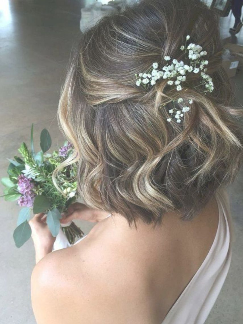 Bob Wedding Hairstyles For Short Hair Half Up Half Down Addicfashion