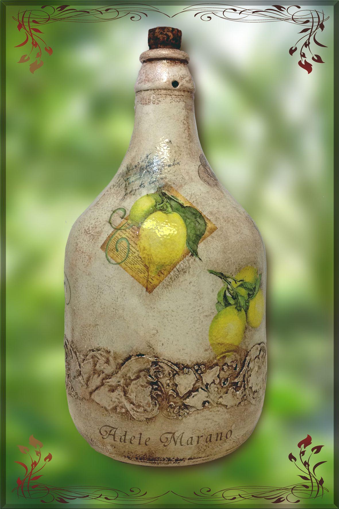 bottiglione decorato
