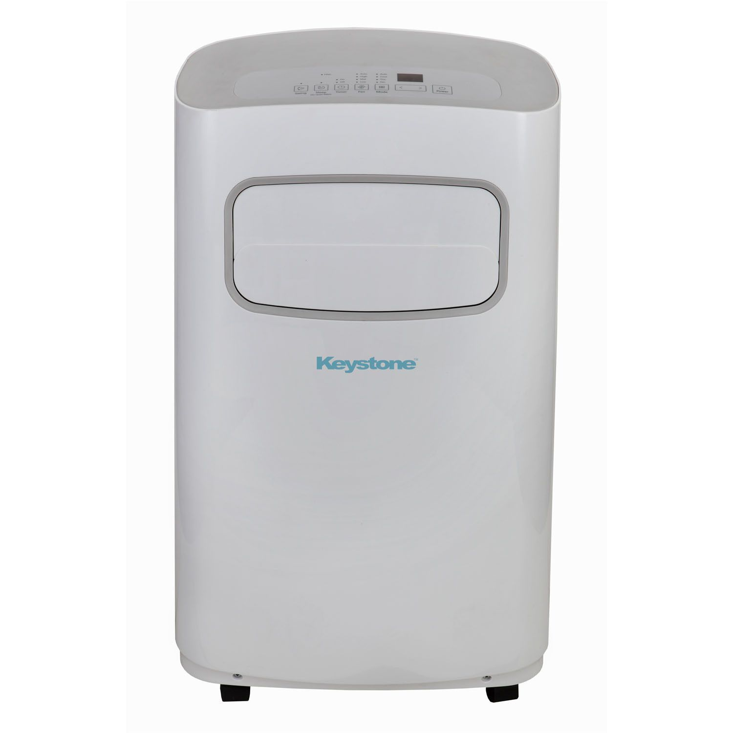 Keystone 14 000 Btu Portable Air Conditioner Cool Only Remote White Gray Grey White Dehumidifiers Remote