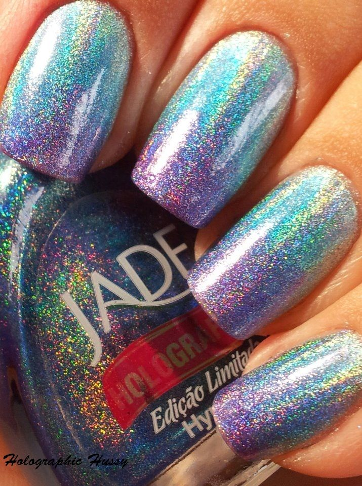 Jade Holographic Gradient Manicure. I am so doing this when the rest ...