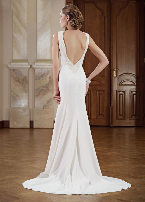 Hochzeitskleid Tiefer Rücken  Schmale brautkleider