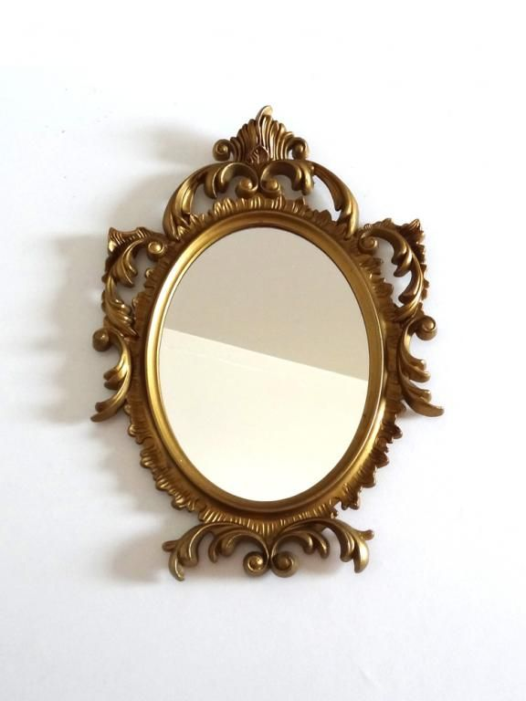 miroir ovale dore style baroque annees