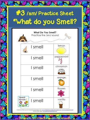 Sense Of Smell Activity For Your Five Senses Unit Classroom Freebies Senses Preschool Articulation Therapy Five Senses Preschool Sense of smell worksheets