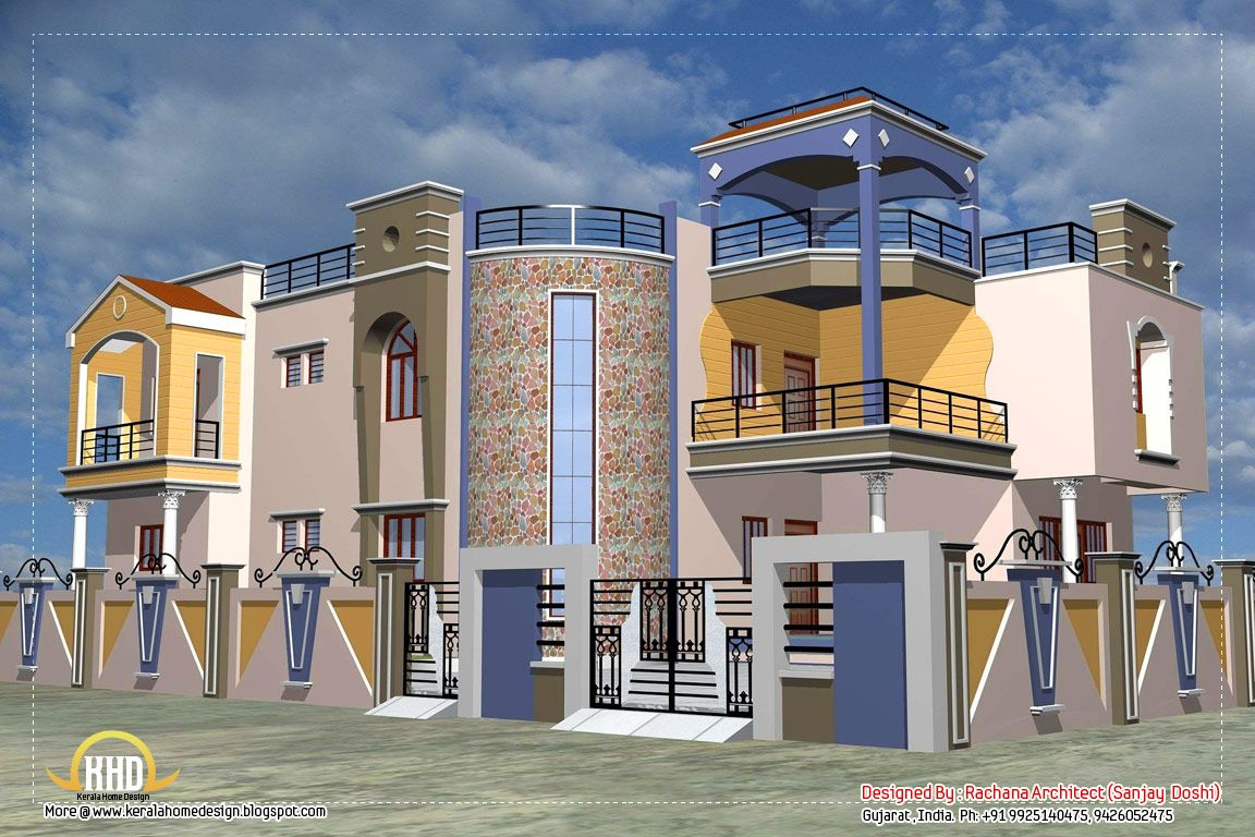 India Luxury Bedrooms | Luxury Indian Home Design With House Plan   4200  Sq.Ft.   Kerala Home .