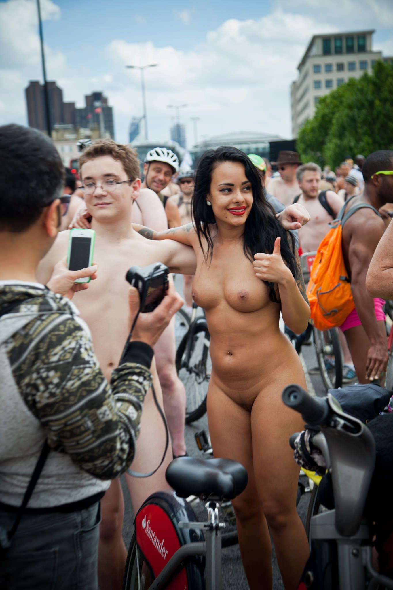 World Naked Bike Ride London Naked And Nude In Public Pics -9631