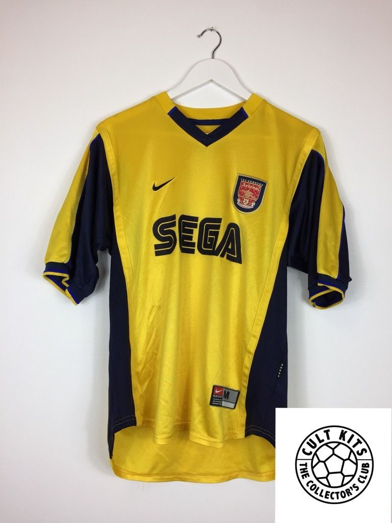 3dd549309  Retro arsenal  99 01 away  football shirt (m) soccer jersey