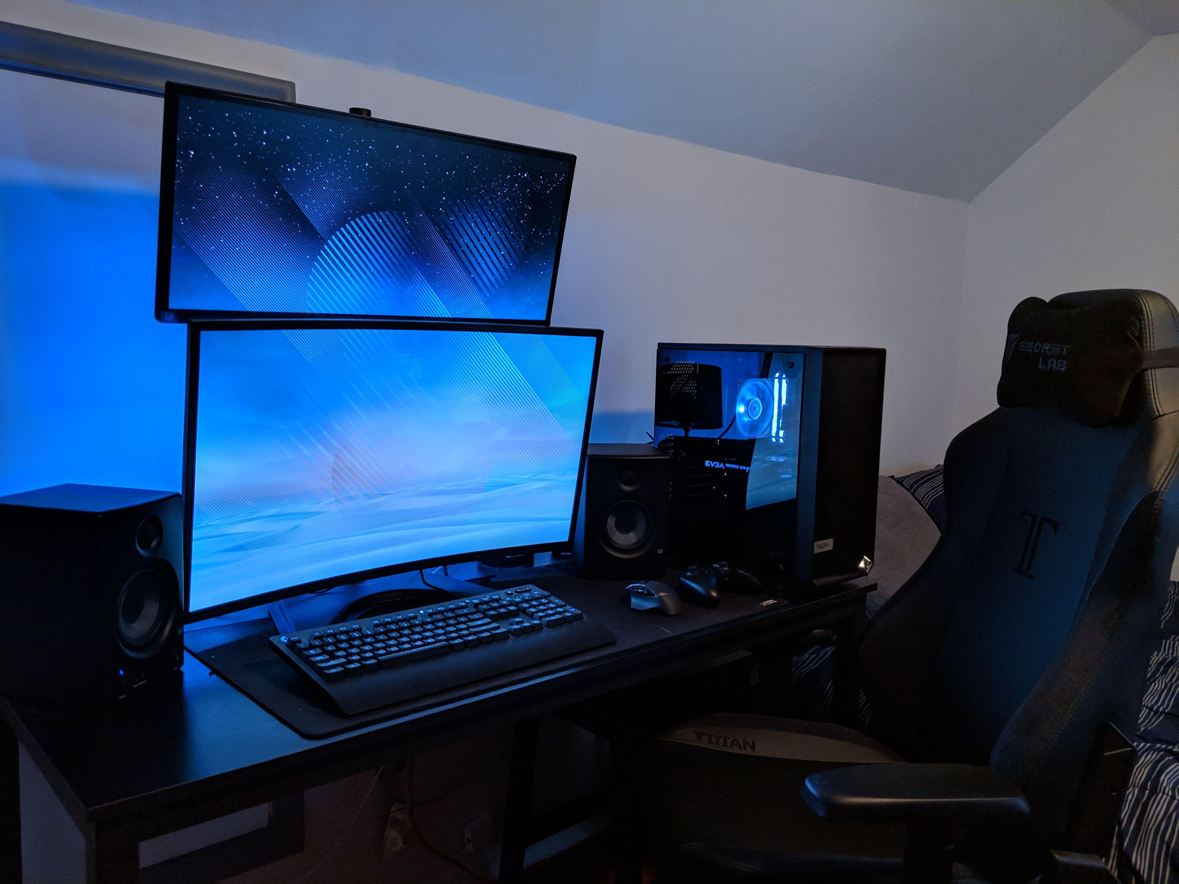 Vertical Stacked Dual Monitor Wallpaper Nosirix