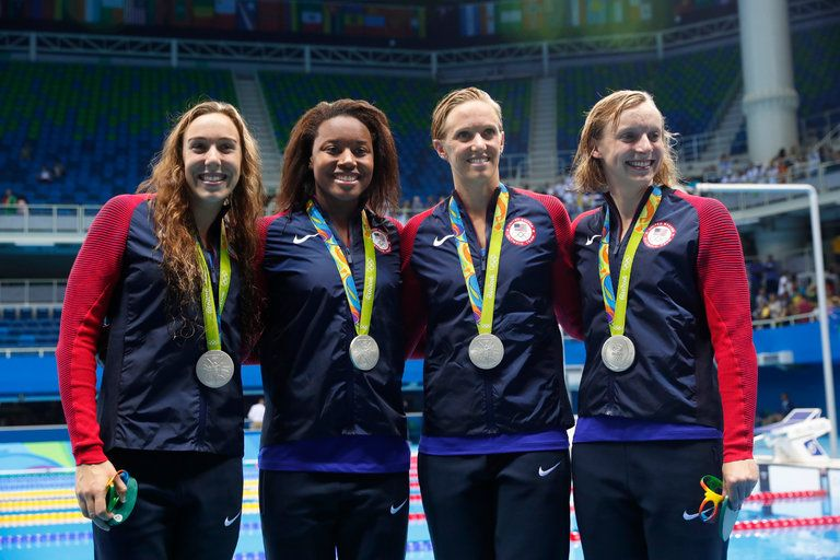 With Katie Ledecky Added to Mix, U.S. Relay Wins Silver - The New York Times
