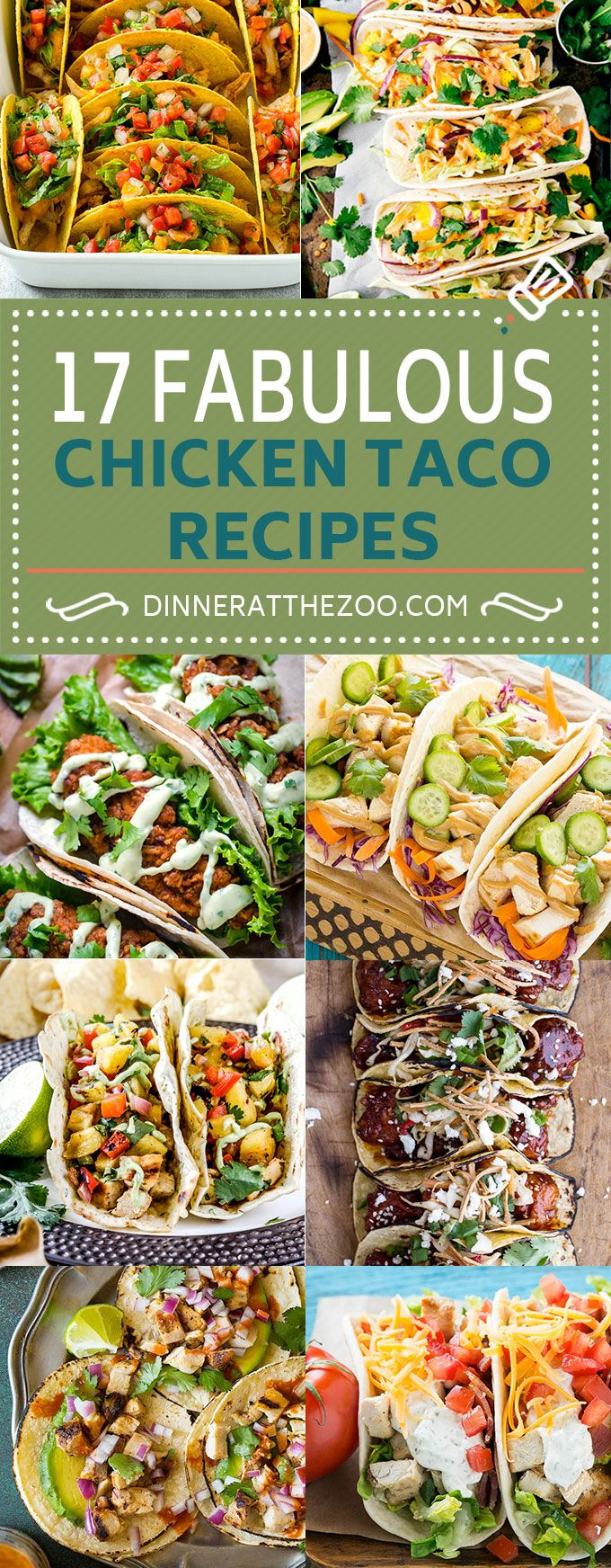 17 Fabulous Chicken Taco Recipes #chickentacorecipes