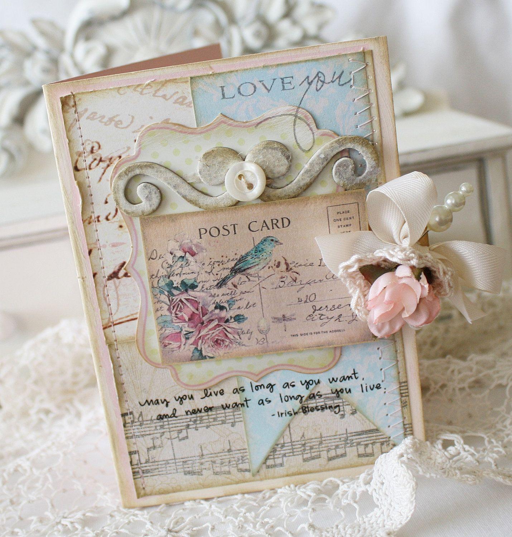 Post card, card