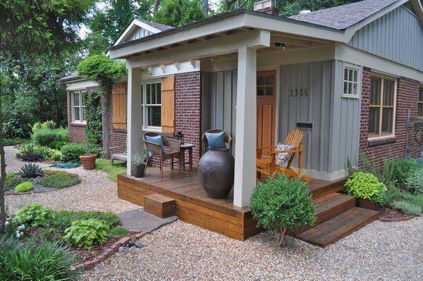 Pea Gravel Patio Decorating Ideas Garden Design Front Yard Decor
