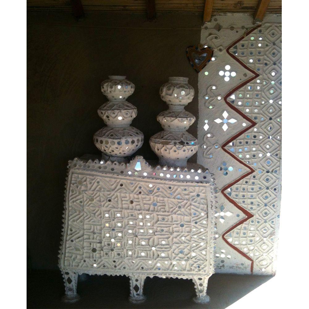 Broken Mirror Wall Art Gujarati Home Interior Maudinteriorscom Embroidery Wabi Sabi
