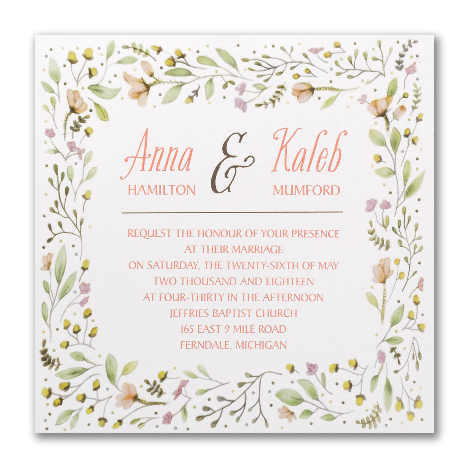 Picking Posies - Invitation - Thermography. Available at Persnickety ...