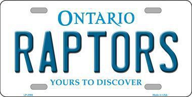 Raptors Ontario State Metal Novelty License Plate Tag LP
