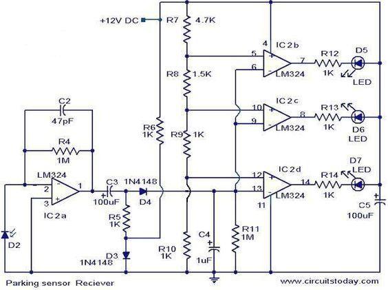 Parking Sensor Circuit Electronic Circuits And Diagram