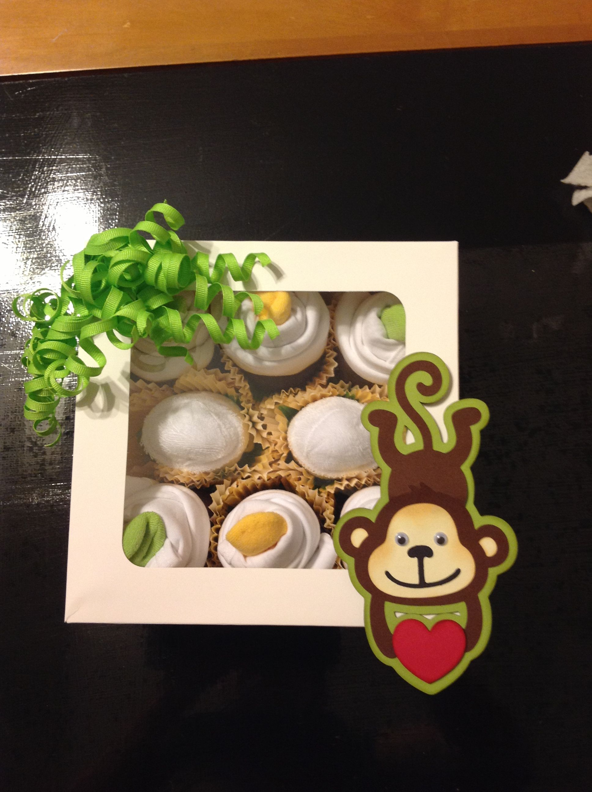 Baby shower gift baby clothing cupcakes and cricut create