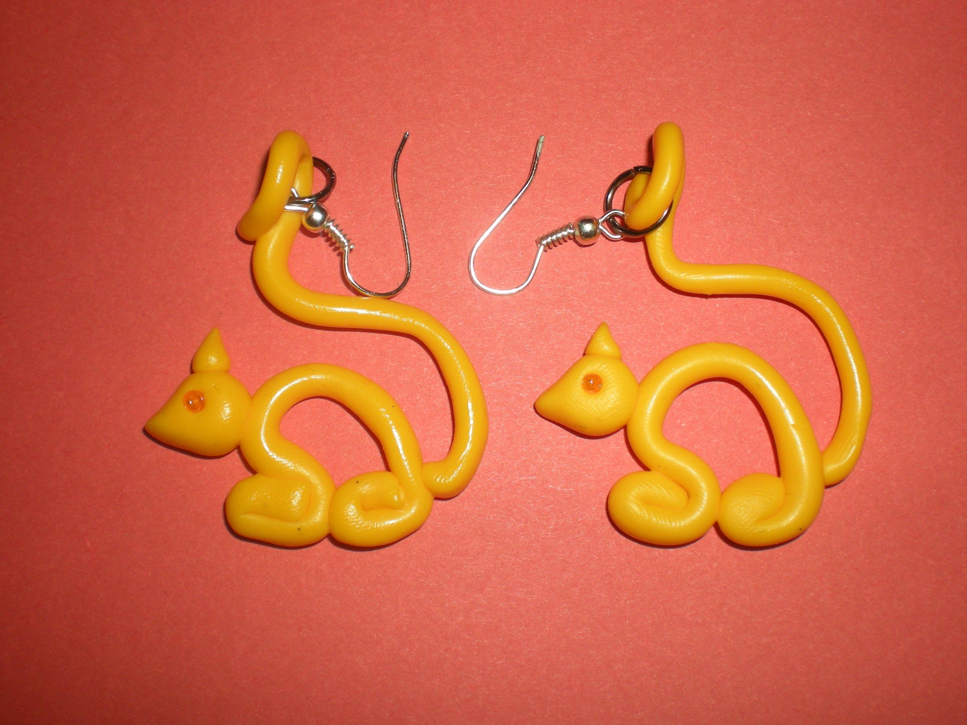 gatti gialli - #Fimo