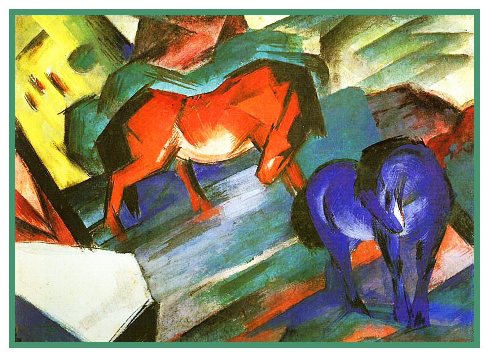Orenco Originals The Blue Horse Franz Marc Counted Cross Stitch Pattern