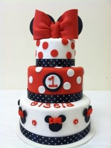 Minnie Mouse 3 Tier Cake Tiered cakes Minnie mouse and Mice