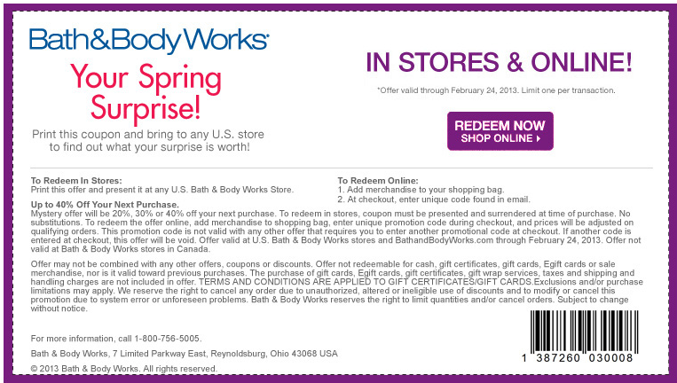 Mystery Minimum 20 40 Off At Bath Body Works Coupon Via The Coupons App Free Printable Coupons Printable Coupons Coupon Apps