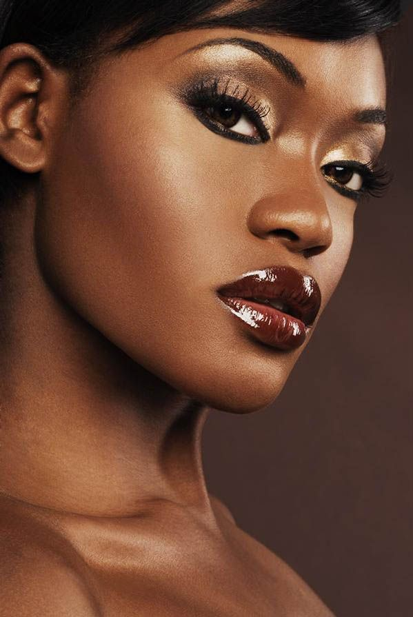 Makeup For Dark Brown Eyes And Brown Skin Dark brown eyes with ...