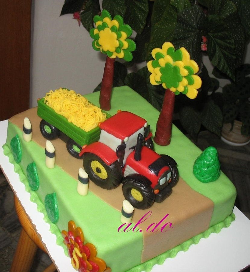 treckertorte Tractor cake Childrens Birthday Cakes Farma