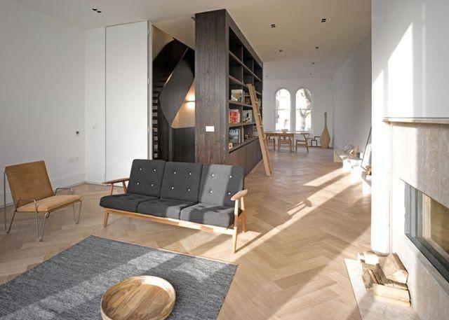 Wohnzimmer Renovieren ~ Modernes haus london wohnzimmer kamin teppich architecture