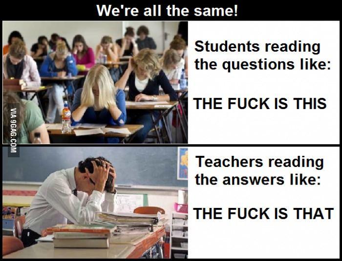 Teachers know the struggle to.