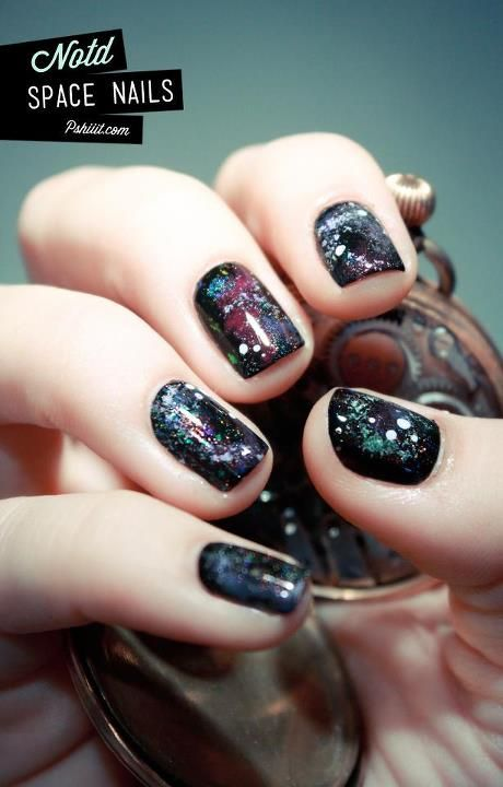 Space Nails.... Next weeks nails...