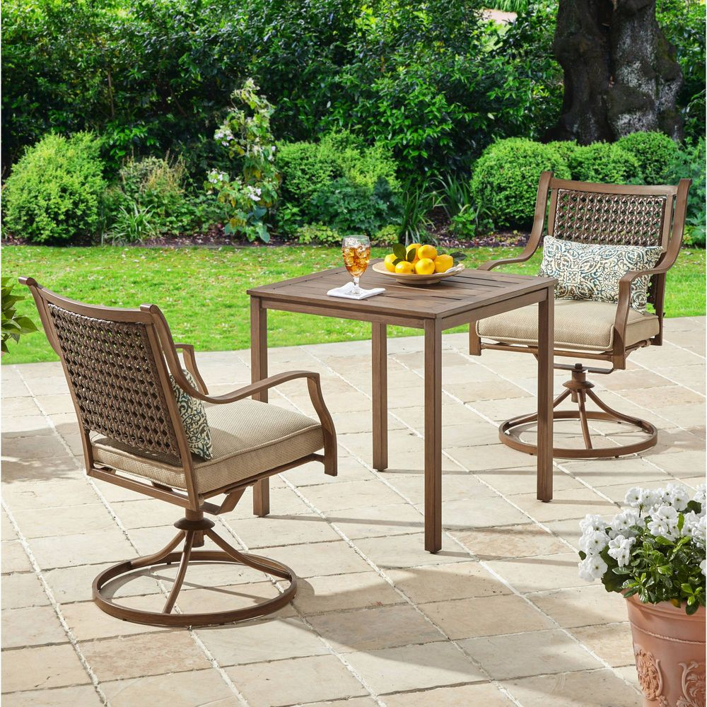 5 Piece Patio Garden Bistro Set Pillows Furniture Table Swivel Chairs Cushions 282 90end Dat Outdoor Patio Furniture Sets Outdoor Patio Furniture Patio Decor