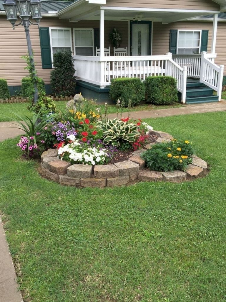 41 Perfect Bed Garden Design for Your Front Yard #frontyarddesign