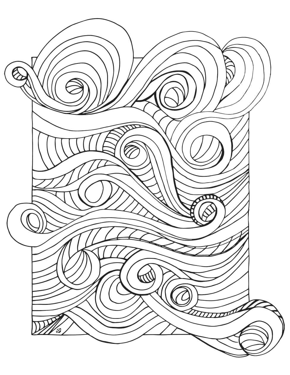 Waves Coloring Page Art Therapy Coloring Book Coloring Pages