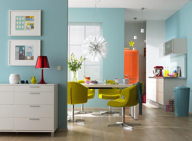 Wandfarbe - Von Raumwirkung Bis Farbtabelle | Nizza, Farben Und Türkis Hellblaue Kche Welche Wandfarbe