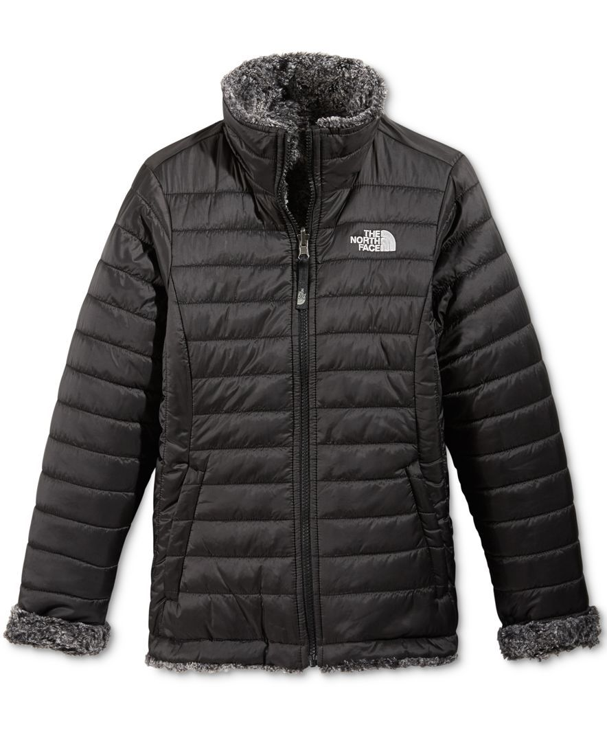 8648982f7fdb The North Face Girls  or Little Girls  Reversible Mossbud Swirl ...