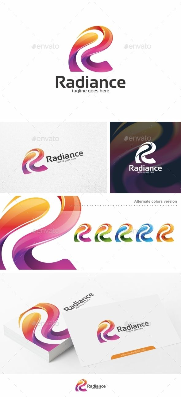 Colorful R Letter  Logo Template  Letter Logo Logo Templates