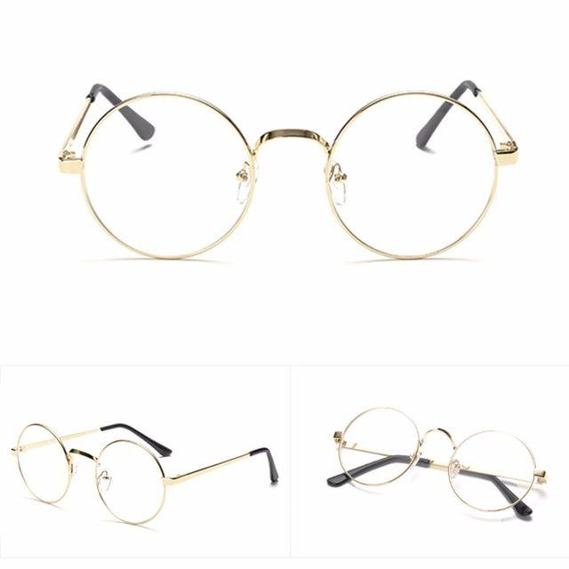 4768029fc Hot Chic Eyeglasses Retro Big Round Metal Frame Clear Lens Glasses Nerd  Spectacles Reading Glasses Women Men Review