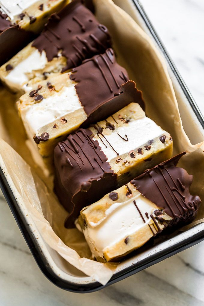 Cookie Dough Ice Cream Sandwiches #icecreamsandwich