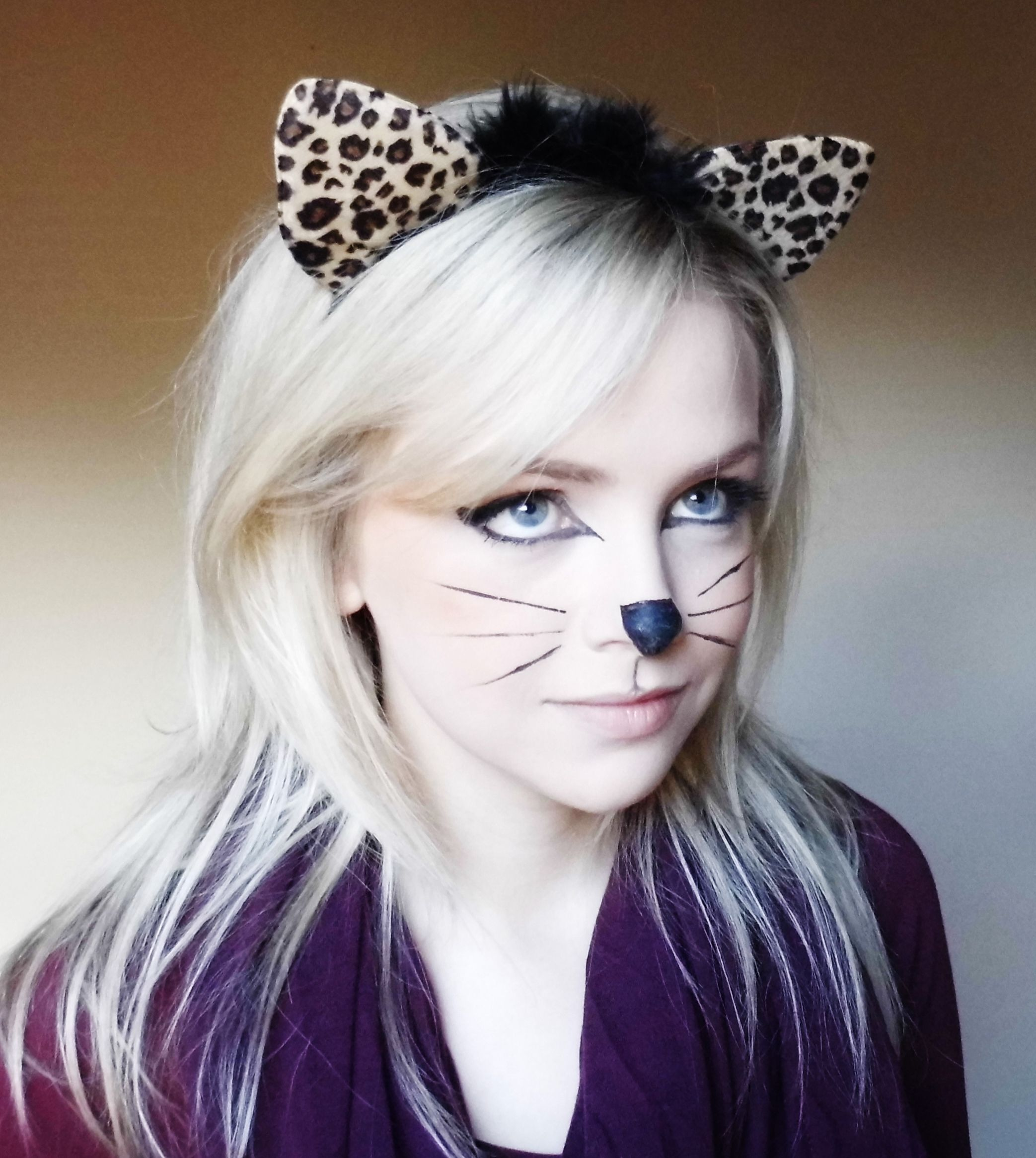 Last Minute Halloween Kitty Cat Makeup Tutorial 2015 - YouTube  |Cat Makeup For Adults