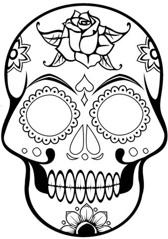 Sugar Skull Ausmalbild Mandalas Pinterest