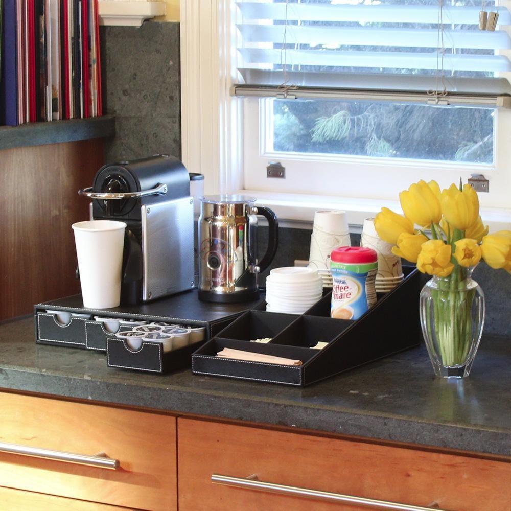 Coffee tea station 1 piece organizer tea station