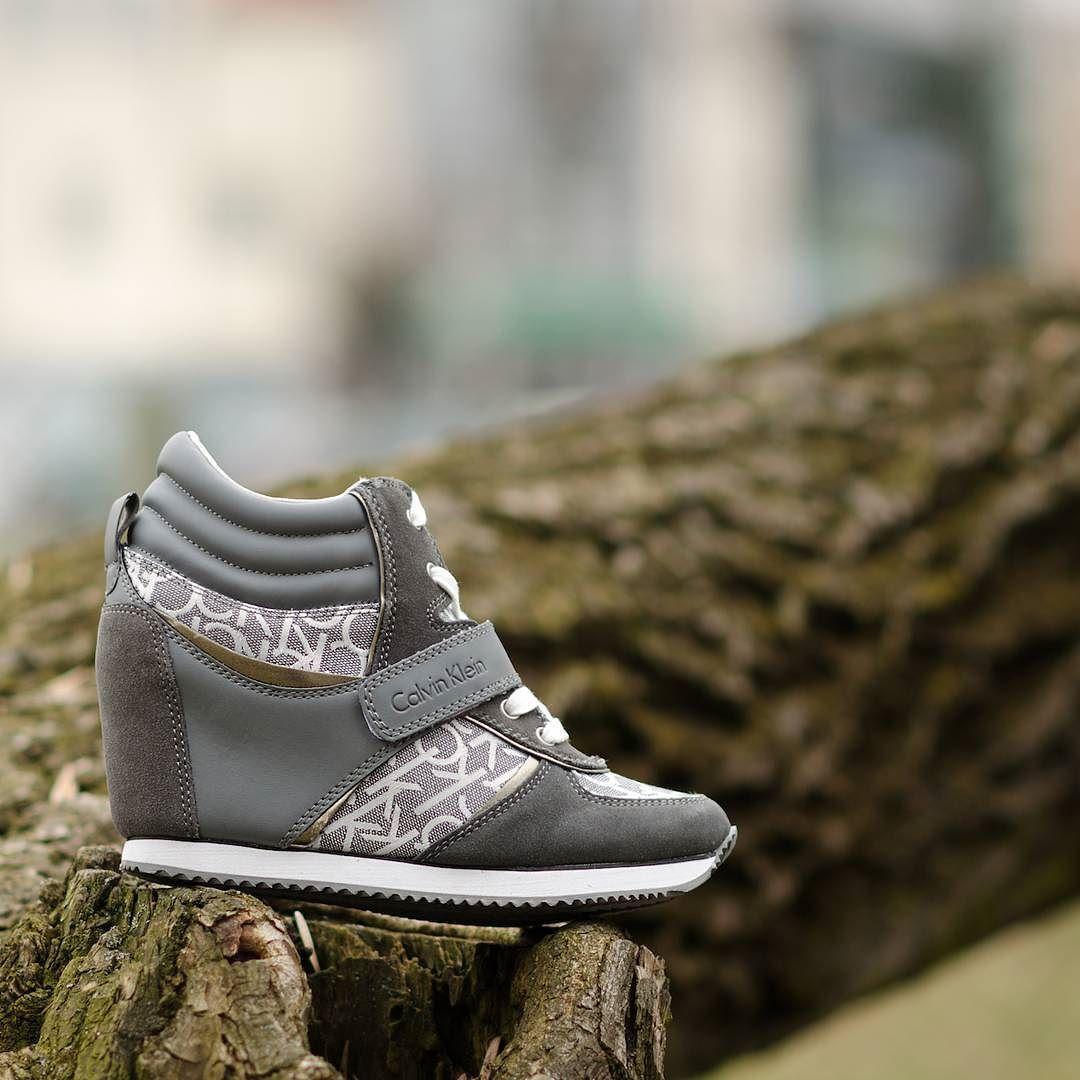 Buty Shoes Sneakers Sneakersholic Sneakershouts Ck Calvinklein Viridiana Grey Koturn Highheels Cliffsport Womanwear Women Shoes Shoes High Heels