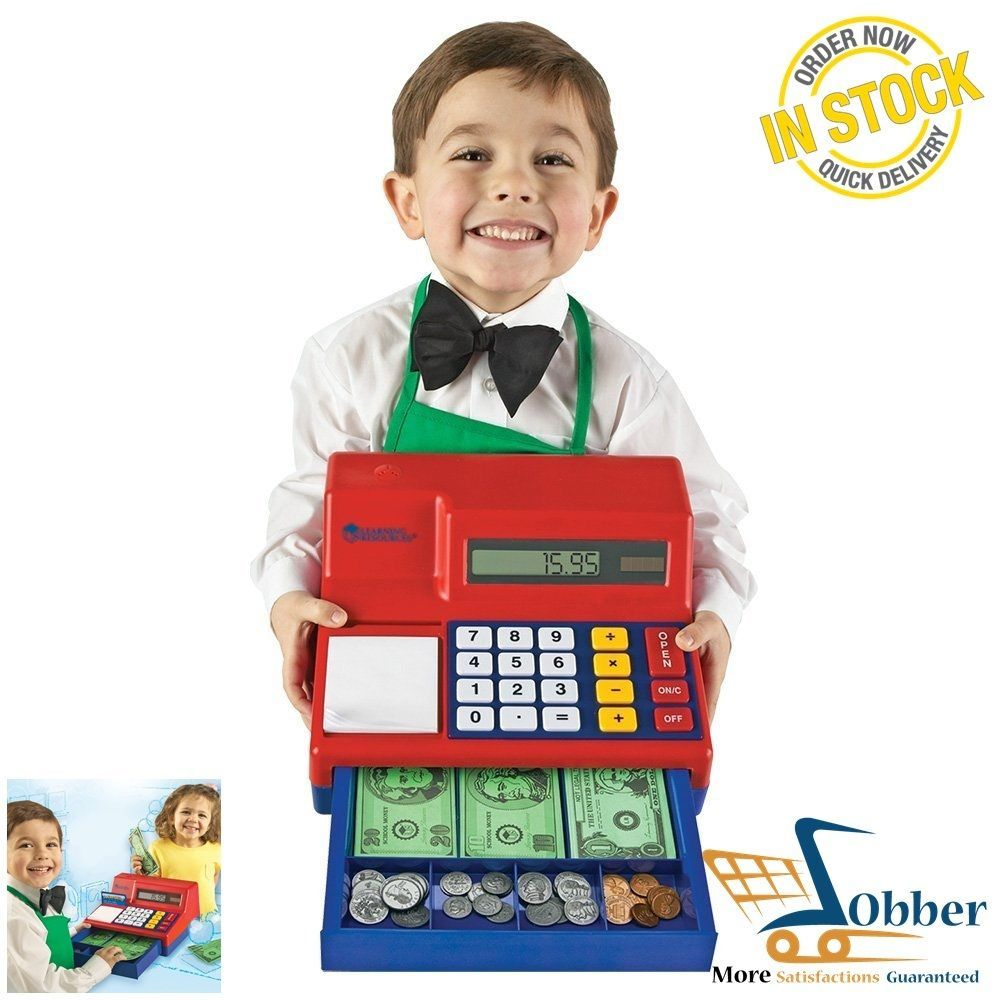 Uncategorized Kid Calculator play calculator cash register toys kids pretend money banking cashier role